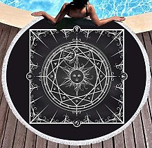 JgZATOA Black And White Pattern Beach Towel Large