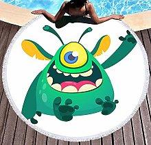 JgZATOA Cartoon Green Animal Beach Towel Large