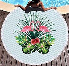 JgZATOA Green Banana Leaf Beach Towel Large Lovely