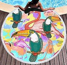 JgZATOA Green Bird Beach Towel Large Lovely Bath