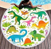 JgZATOA Green Dinosaur Beach Towel Large Lovely