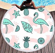 JgZATOA Green Flamingo Beach Towel Large Lovely