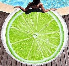 JgZATOA Green Fruit Beach Towel Large Lovely Bath
