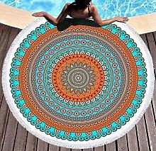 JgZATOA Green Lace Beach Towel Large Lovely Bath
