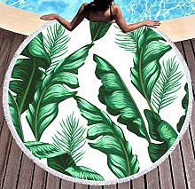 JgZATOA Green Leaf Beach Towel Large Lovely Bath