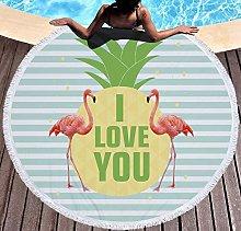 JgZATOA Green Letters Beach Towel Large Lovely