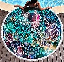 JgZATOA Green Stripes Beach Towel Large Lovely
