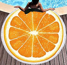 JgZATOA Orange Orange Beach Towel Large Lovely