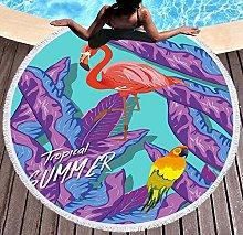 JgZATOA Purple Flamingo Beach Towel Large Lovely