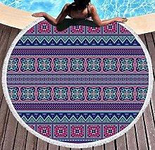 JgZATOA Purple Pattern Beach Towel Large Lovely