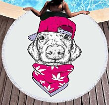 JgZATOA Red Hat Beach Towel Large Lovely Bath