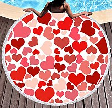 JgZATOA Red Love Beach Towel Large Lovely Bath