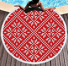 JgZATOA Red Pattern Beach Towel Large Lovely Bath