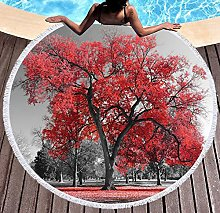 JgZATOA Red Tree Beach Towel Large Lovely Bath