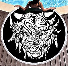 JgZATOA White Animal Head Beach Towel Large Lovely