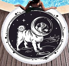 JgZATOA White Dog Beach Towel Large Lovely Bath