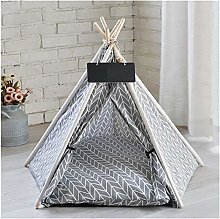 Jgzwlkj Pet bed Pet Teepee Dog & Cat Bed White