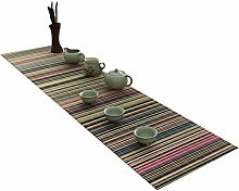 JH1 Colorful Bamboo Table Runner for Tea Party