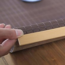 JH1 Durable Bamboo Table Runner, Wood Slat Edged