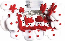 JHD Cute Cartoon Christmas Snowman Elk Doll String