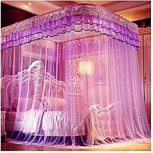 JHGF New Purple Canopy Bed Curtains - Landing