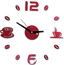 JHGTRFFM wall clock Cafe Diy Large Wall Clock