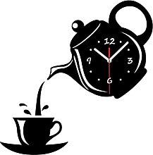JHGTRFFM wall clock Creative Diy Acrylic Coffee