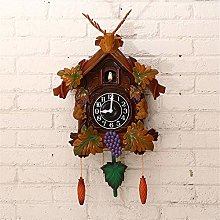 JHKGY Handcrafted Cuckoo Wall Clock Home Art with