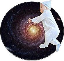 JHKHJ Washable floor mat circular rug round