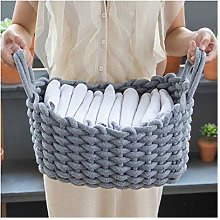 JHLD Collapsible Laundry Hamper, Bold Cotton Rope