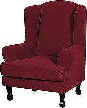 JHLD Wing Chair Slipcover, Jacquard Stretch Wing