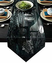 JHLP table runner Halloween Gothic Architecture