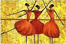 Jhmjqx Dancing Woman Canvas Print Poster Modern