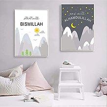 Jhmjqx Islam Wall art print for kids room decor