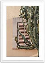 Jhmjqx Mediterranean Wall Art Print Cactus
