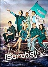 Jhmjqx Scrubs TV Show Art Film Print Silk Poster
