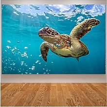 Jhmjqx Sea Turtle Painting Art Print Ocean Turtle