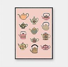 Jhmjqx Teapot llustration Wall Art Print Poster