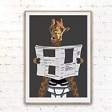 Jhmjqx Wall Art Canvas Painting HD Print Giraffe