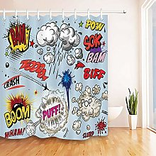 JHTRSJYTJ Cartoon cloud comic pattern Shower