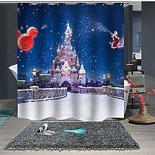 JHTRSJYTJ Castle Snow Shower curtain is suitable