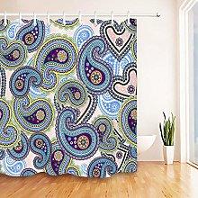 JHTRSJYTJ Colorful vintage paisley pattern Shower