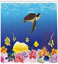 JHTRSJYTJ Deep sea creature fish Shower curtain is
