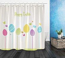 JHTRSJYTJ Easter eggs colorful butterflies Shower