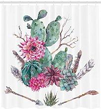 JHTRSJYTJ Exotic bouquet cactus Shower curtain is
