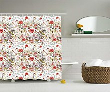 JHTRSJYTJ Floral decorative polyester fabric