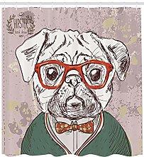 JHTRSJYTJ Hipster animal dog lover style Shower