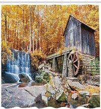 JHTRSJYTJ Historic Water Mill Shower curtain is