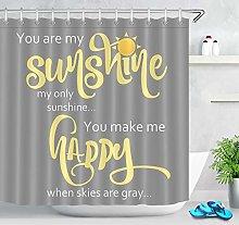 JHTRSJYTJ Love lettering sunshine Shower curtain