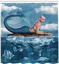 JHTRSJYTJ Mermaid mysterious ocean goddess Shower